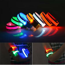 Hot Reflective LED Light Arm Armband Strap Safety Belt For Night Running Cycling