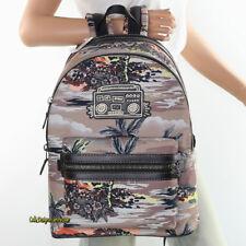 🌸🌸NWT Coach Keith Haring Boom Box Academy Backpack Book Bag Lap Top Bag 28755