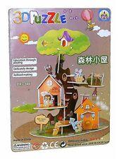 waldbaumhaus Forêt Cabane 3D JOUET ENFANTS PUZZLE JEU DE PUZZLE NEUF lx-346