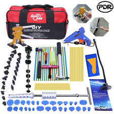 Paintless Hail Repair Dent Puller Lifter PDR Tools T Bar Damage Removal Glue Kit