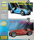 SMER 0952 ALFA ROMEO 1950 and SMER 0953 TALBOT LAGO GP 1949 - 1/24 KITS NO BOXES