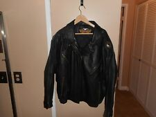 Women's Vintage Harley Davidson Black Electra Leather Jacket Large Very Roomy