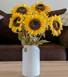 Artificial Sunflowers with Vase - Realistic Sunflower Centerpiece Arrangement