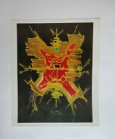 Georges Mathieu, Homage to Guillaume Dufay, 1970 Braun et Cie Lithograph