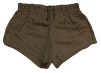 Genuine Army Olive Shorts NEW Lined Cotton 1980 PT hot pants retro sport vintage