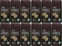 LOT OF 12 Starbucks Caffe Verona Whole Bean Coffee Best Before November 2020