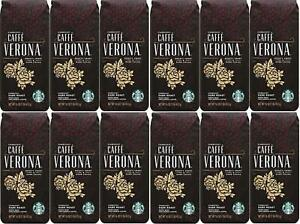 LOT OF 12 Starbucks Caffe Verona Whole Bean Coffee Best Before 10/2020