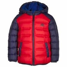 Snozu Little Boys' Ultra Clean Down Hoodie Jacket Blue/Red Size 6