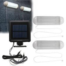 2x 10 LED Impermeable Solar Light Jardín Garage Corridor Pull Cord Switch Lamp
