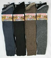 Mens Lambs Wool Long Hose Padded Socks Lot Thick Warm Knee High Sock Size 6-11