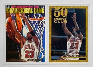(2) Michael Jordan 1993-94 Topps Scoring Leader 50 Point Club Gold Foil Lot SP