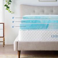 LINENSPA 3 and 4 inch Soft Plush Swirl Gel Memory Foam Topper - Full Queen King