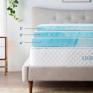 Linenspa 2, 3, 4 inch Soft Plush Swirl Gel Memory Foam Topper - Full Queen King