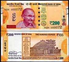 INDIA 200 RUPEES 2018 LOW SERIAL NUMBER 2 DIGIT UNC