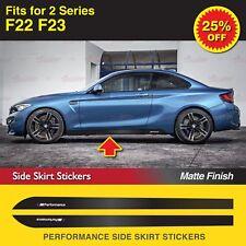 Für BMW F22 F23 2-Serie M Performance Seitenschweller Schweller Aufkleber MATT
