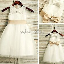 Girl Communion Party Prom Princess Pageant Bridesmaid Wedding Flower Dress 8