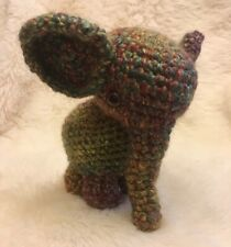 "Crochet Baby Elephant Handmade Plush 8"" Stuffed Animal Amigurumi Realistic"