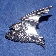 Quality Pewter Gothic Flying Pipestrelle Bat Brooch Pin