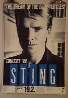 Sting Dream of the Blue turtles  tour  1986 Original Concert  poster