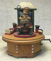 "Vintage Anri Thorens 28 NOTE Music Box - ""ScarletRibbon"" Girl Baby Rocker Dog"
