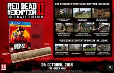 Red Dead Redemption 2 Ultimate Edition & Collector's Box - PS4 Bundle - UK NEW!