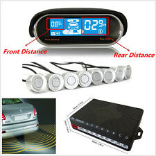 Dual-core Double LCD Display 8 Silver Parking Sensor Car Reverse Radar Alarm Kit