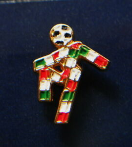 1990 ITALY soccer football glazed metal PIN Worldcup FIFA rare official CIAO