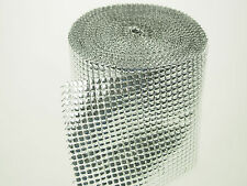 Metallic Silver Black Ribbon Shiny Mesh Overlay Wrap Wedding Decor Bling Premium