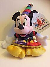 "Rare! Tokyo Disneyland 15th Anniversary Year Jester Minnie Disney Plush Toy~13"""