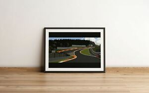 Spa - Eau Rouge Circuit Print