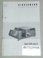 Originale Bedienungsanleitung manual Kindermann Silent  2500 select S Anleitung