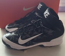New NIKE AIR HUARACHE  MID MEN's CAMO WHITE BLACK BASEBALL METAL CLEATS Size 13
