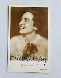 hand signed Elisabeth Bergner photo postcard autographed German actress