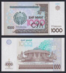 Uzbekistan 1000 sum 2001 FDS/UNC  C-09