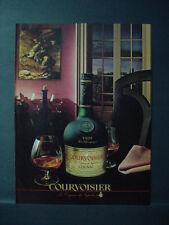 1985 Courvoisier Cognac de Napoleon Drink Vintage Print Ad 10949