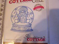 COTTAGE CUTZ  TEDDY BEAR SNOWGLOBE   DIE SILHOUETTE CHRISTMAS WINTER CHILDREN
