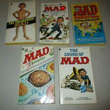 Mad Paperbacks (Lot x5) PB Uncensored Mad #55, Sampler #18, Sound of Mad,