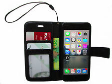 iPhone 6 case and iPhone 6s case, Book Style Wallet Leather Case (Black)