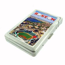 Boston, Fenway Park, Red Sox D 146 Cigarette Case Built in Lighter Metal Wallet