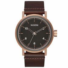 Nixon Stark Watch Brown Leather Rose Gold Gunmetal A1194 2001 / A1194-2001