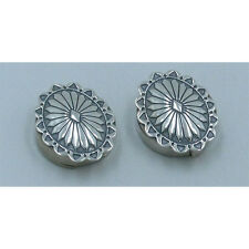 Concho Nickel Back Button Covers .925 Sterling Silver Southwestern Stamped