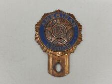 Vintage US American Legion METAL PEINTURE plaque Topper voiture badge Auto emblème