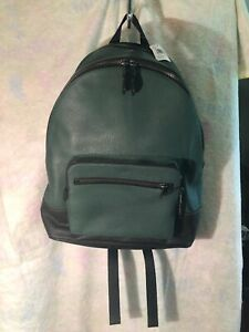 Coach Leather West Backpack Green West