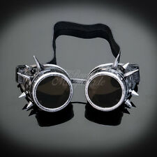 Steampunk Goggles Spike Costume Cosplay Silver G1009