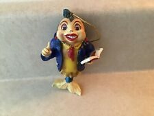 Porpoise Teacher With Red Glitter Lips & Ascot Ornament