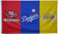 San Francisco 49ers & Los Angeles dodgers & Los Angeles Lakers Banner 3x5ft flag