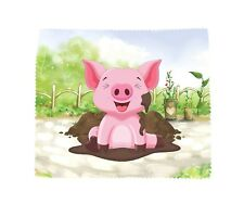Pig Microfibre Glasses Lens Phone Screen Cleaning Cloth Fun Novelty Farmer Gift