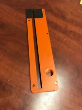 Used OEM RIDGID R4513 Saw Parts Table Throat Plate Assembly 089290001700