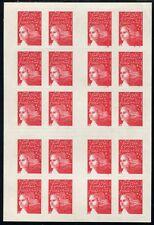 Lot N°3541 Carnet Moderne N°3419-C4 Défaut d'essuyage sur 6 timbres Neuf ** LUXE