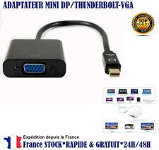 Thunderbolt mini DP VGA Adaptateur DP VGA MacBook Pro Air iMac Surface Pro 1 2 3